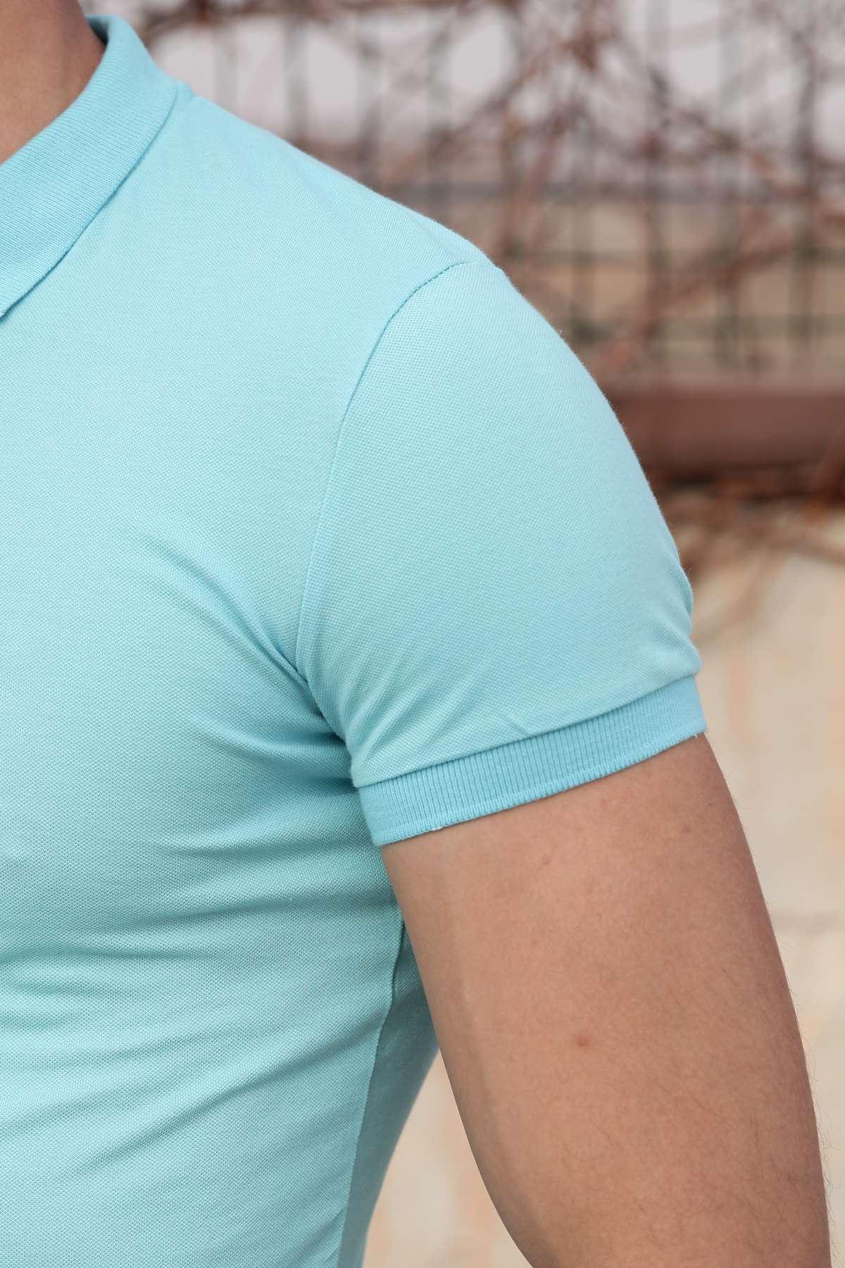 Basic Polo Yaka Slim Fit Tişört Mint