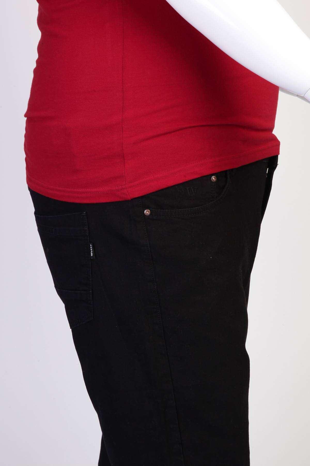 Basic Süper Battal Kot Pantolon Siyah