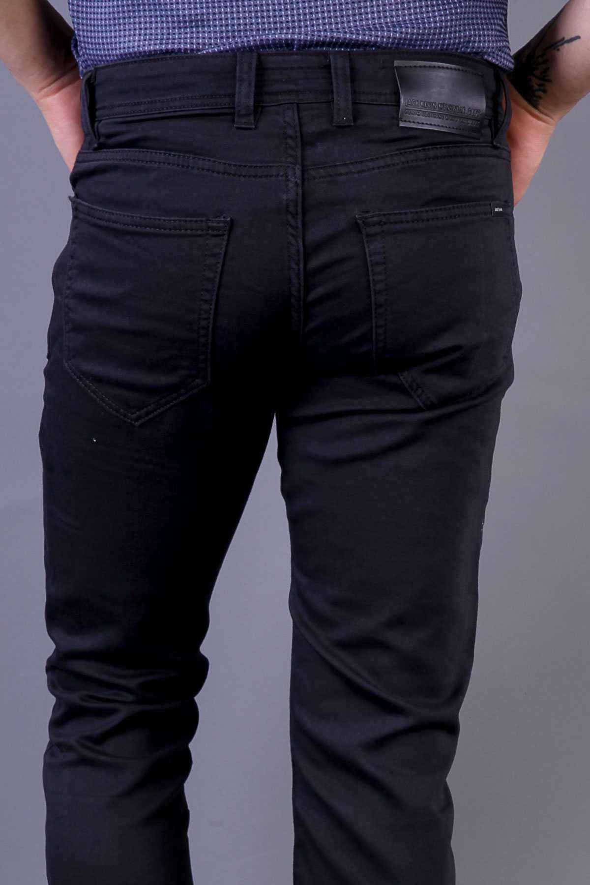 Basic Yıkamalı Kot Pantolon Antrasit
