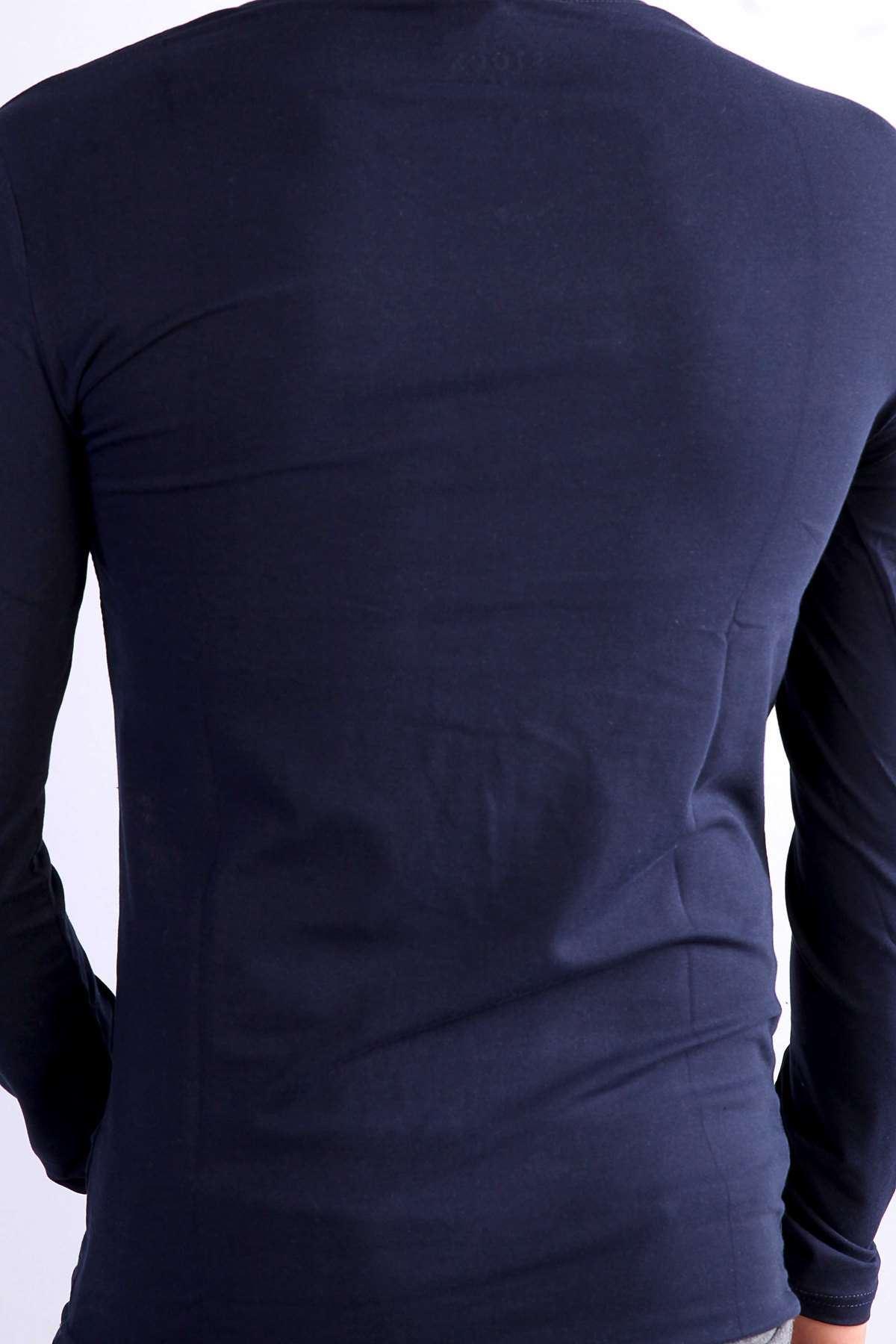 Basic V Yaka Uzun Kol Swetshirt Laci