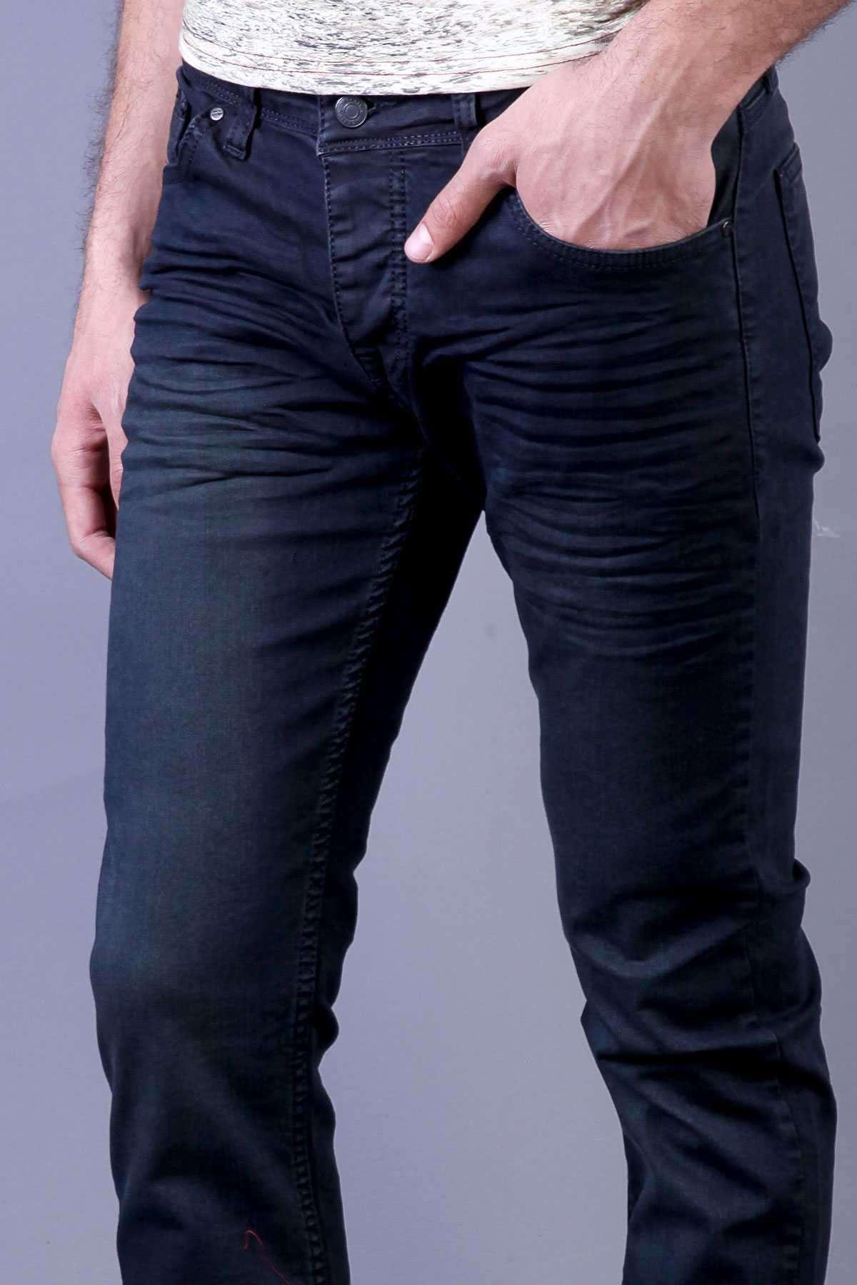 Basic Yıkamalı Kot Pantolon Laci