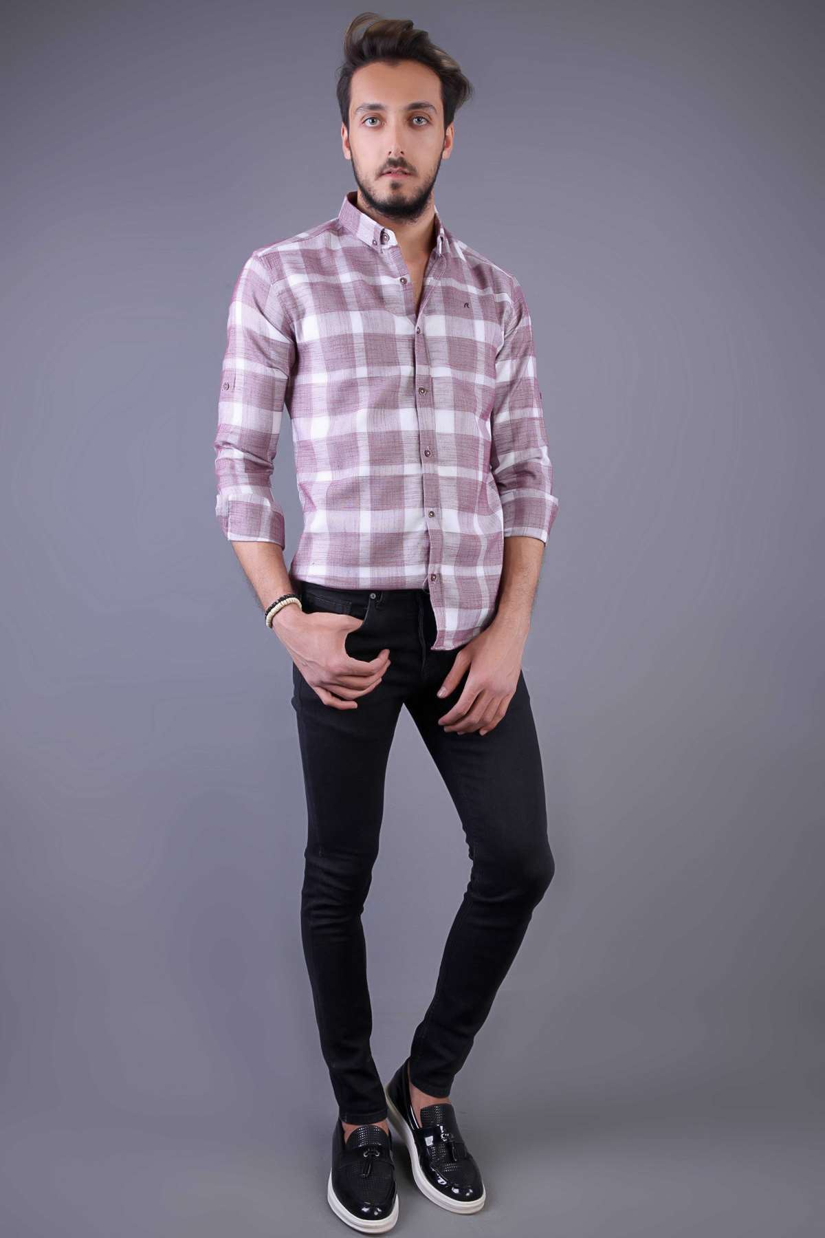 Basic Yıkamalı Slim Fit Kot Pantolon Siyah