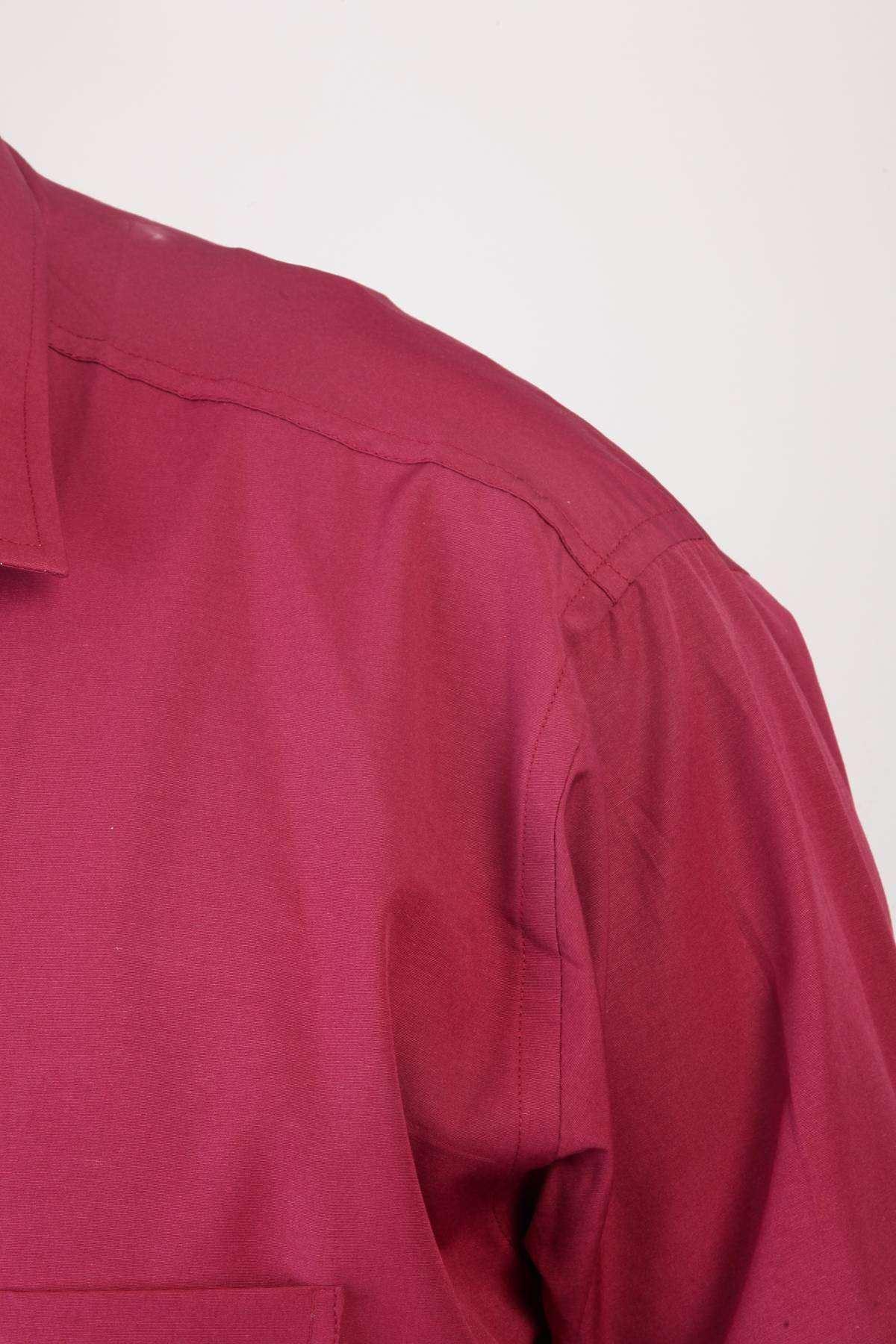 Dakron Düz Süper Battal Gömlek Bordo
