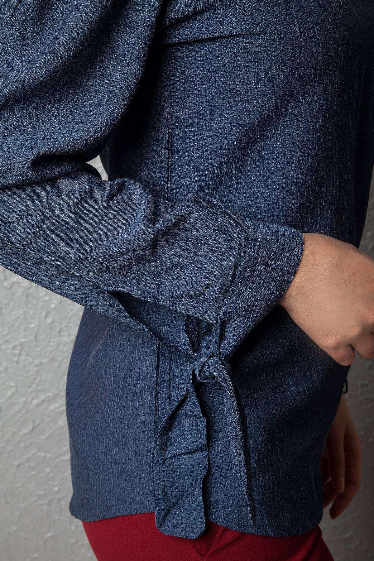 Kol Bağlamalı Straplez Bluz Laci