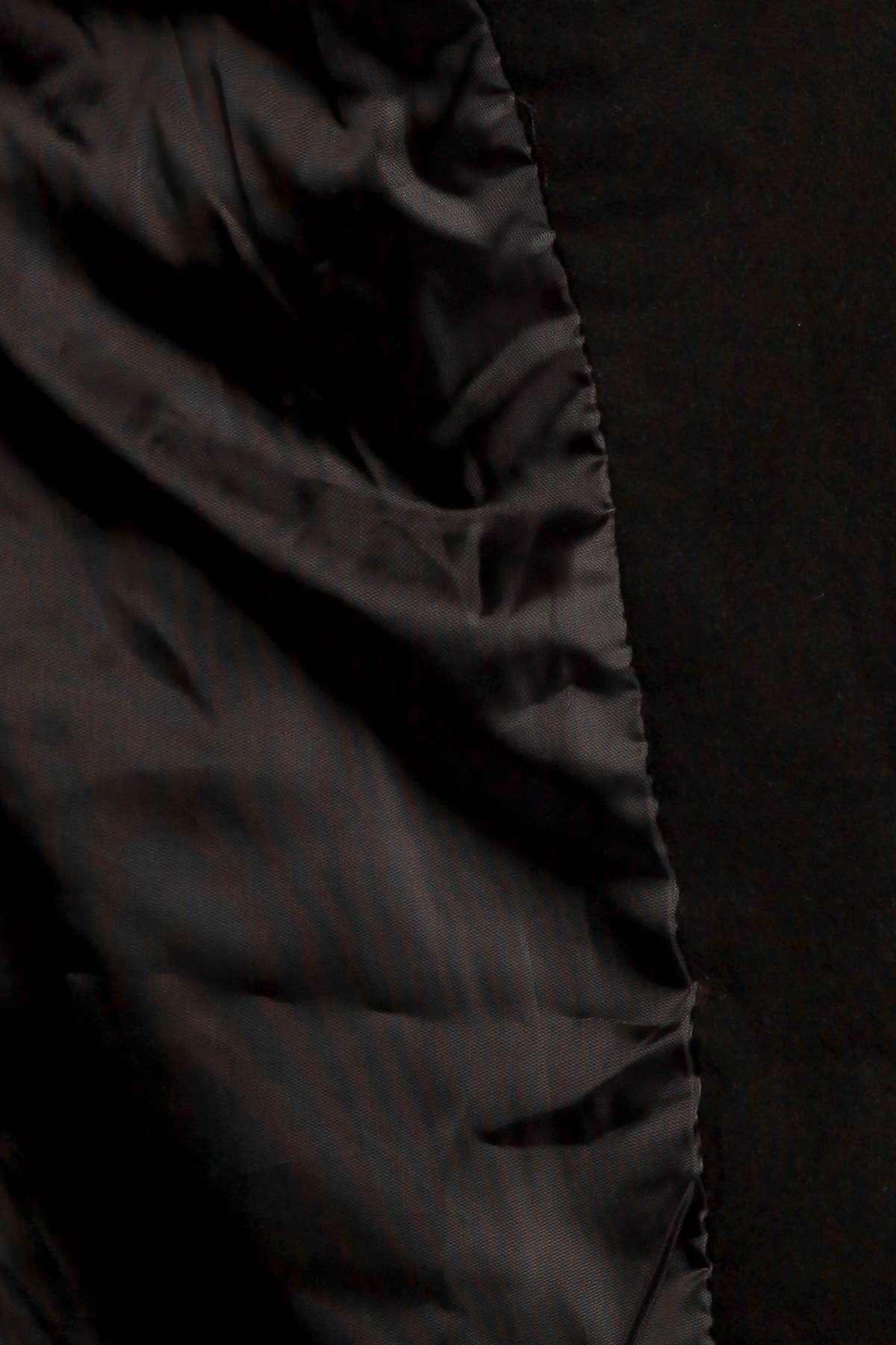 Kısa Kaşe Trençkot Siyah