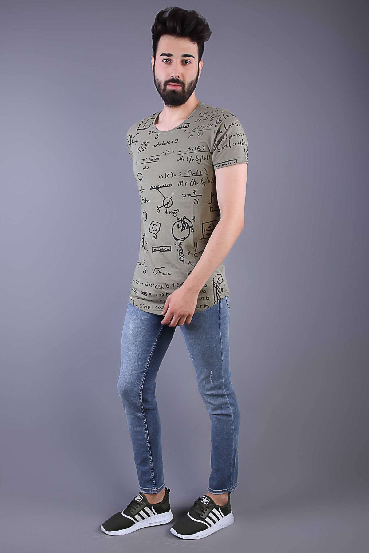 Lazer Tırtıklı Hafif Taşlamalı Slim Fit Kot Pantolon Açık-Lacivert