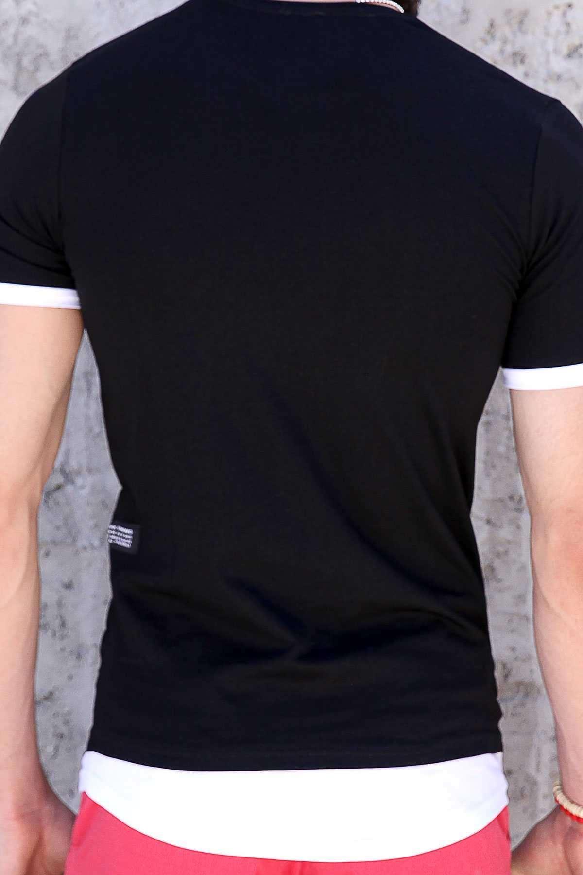 Önü Kuru Kafa Baskılı Are You Ready Yazılı Tişört Siyah