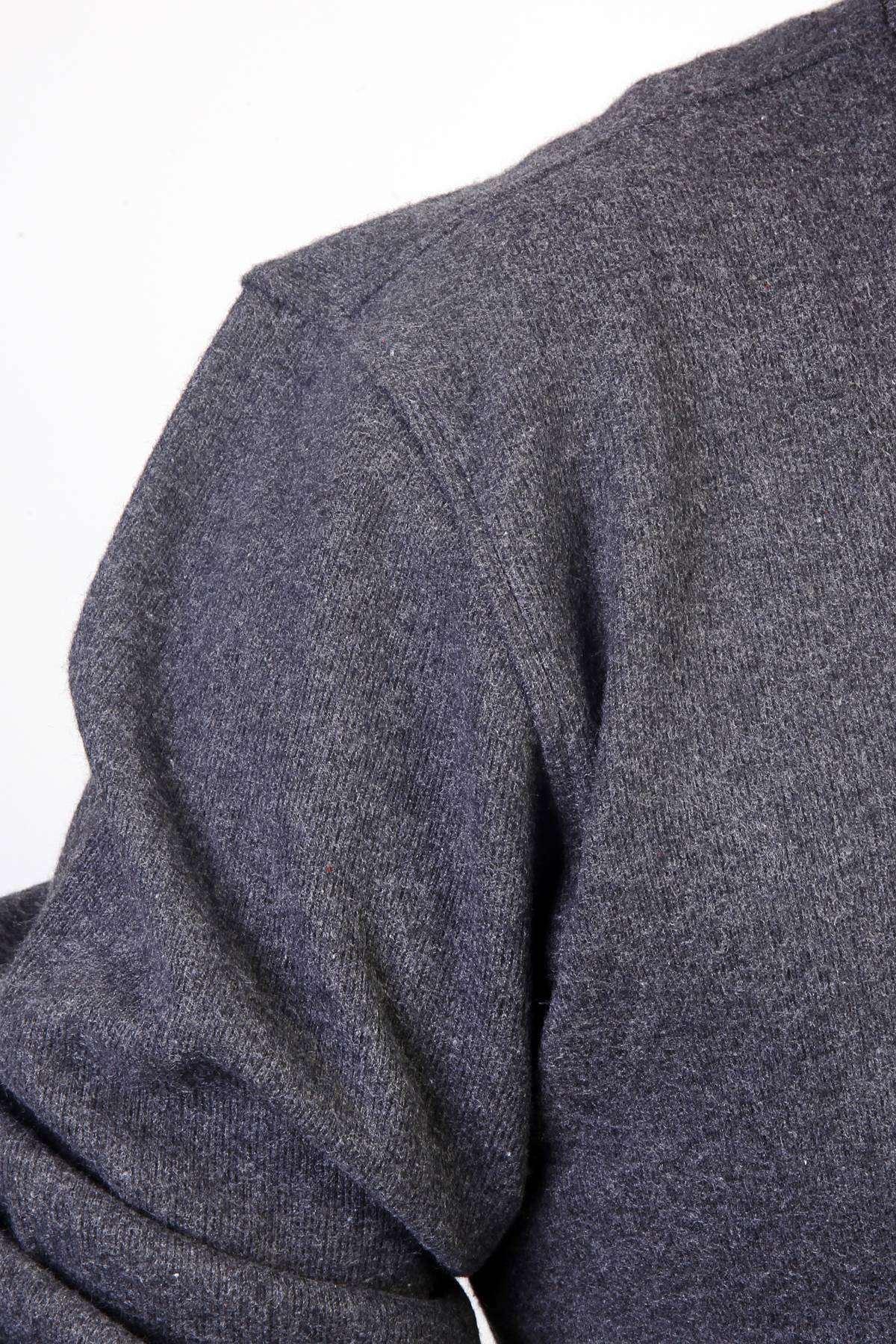 Sıfır Yaka Selanik Süper Battal Sweatshirt Antrasit