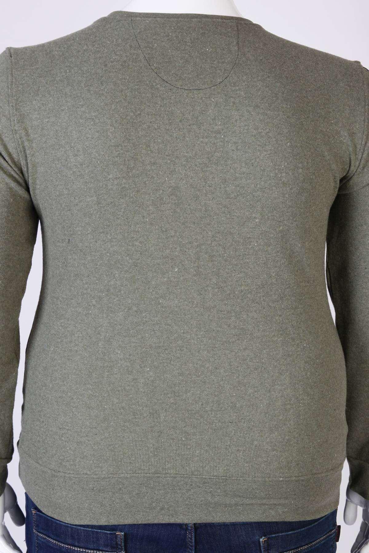 Sıfır Yaka Selanik Süper Battal Sweatshirt Yeşil