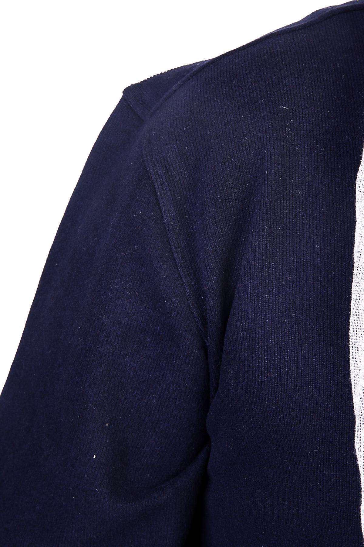 V Yaka Selanik Süper Battal Sweatshirt Lacivert